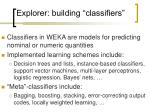 explorer building classifiers