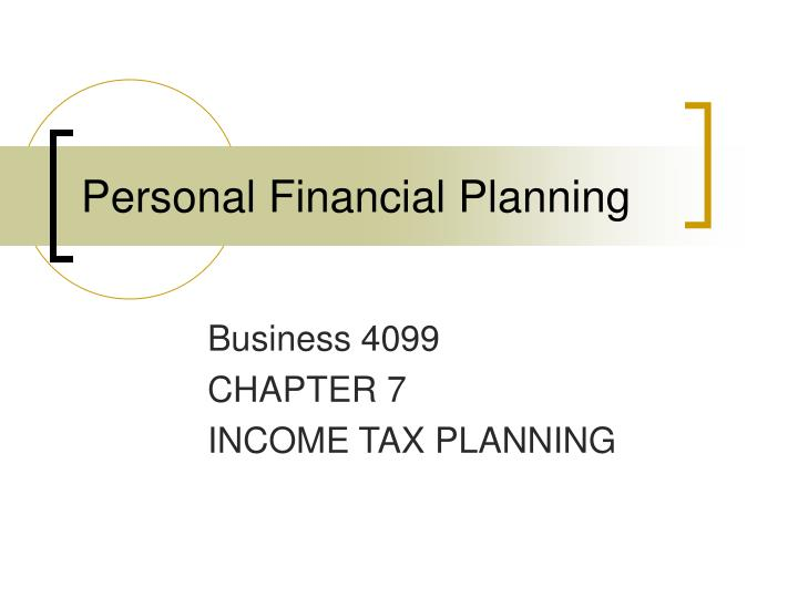 personal financial planning n.