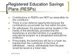 registered education savings plans resps