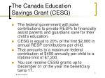 the canada education savings grant cesg