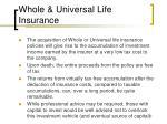 whole universal life insurance