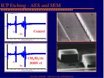 icp etching aes and sem
