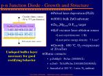 p n junction diode growth and structure