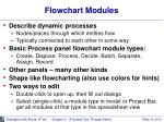 flowchart modules