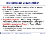 internal model documentation
