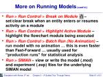 more on running models cont d1