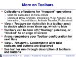 more on toolbars