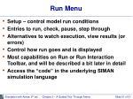 run menu