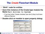 the create flowchart module