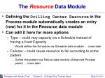 the resource data module