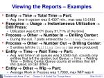 viewing the reports examples