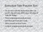 eustachian tube function test