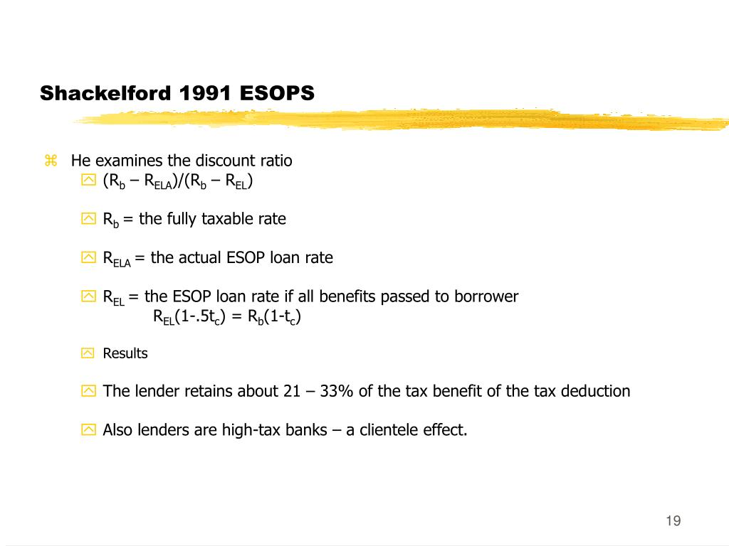 Shackelford 1991 ESOPS
