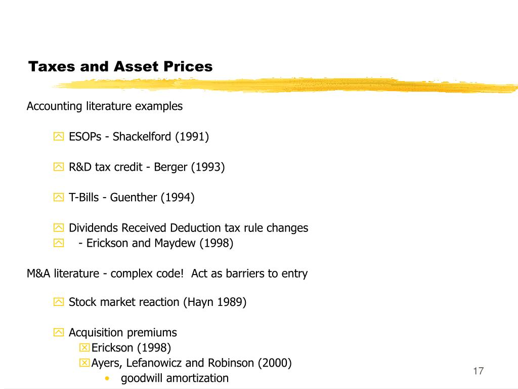 Taxes and Asset Prices