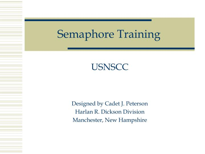 semaphore training n.
