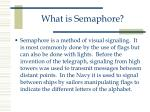 what is semaphore