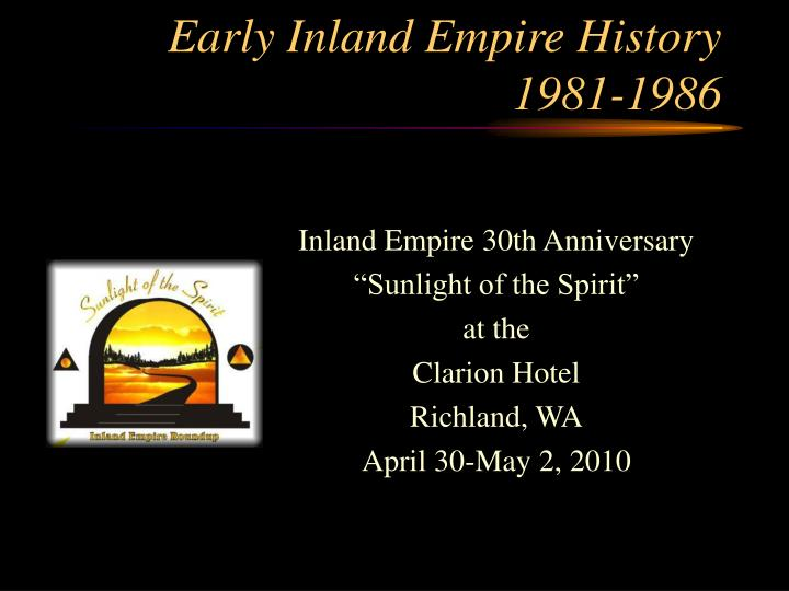 early inland empire history 1981 1986 n.