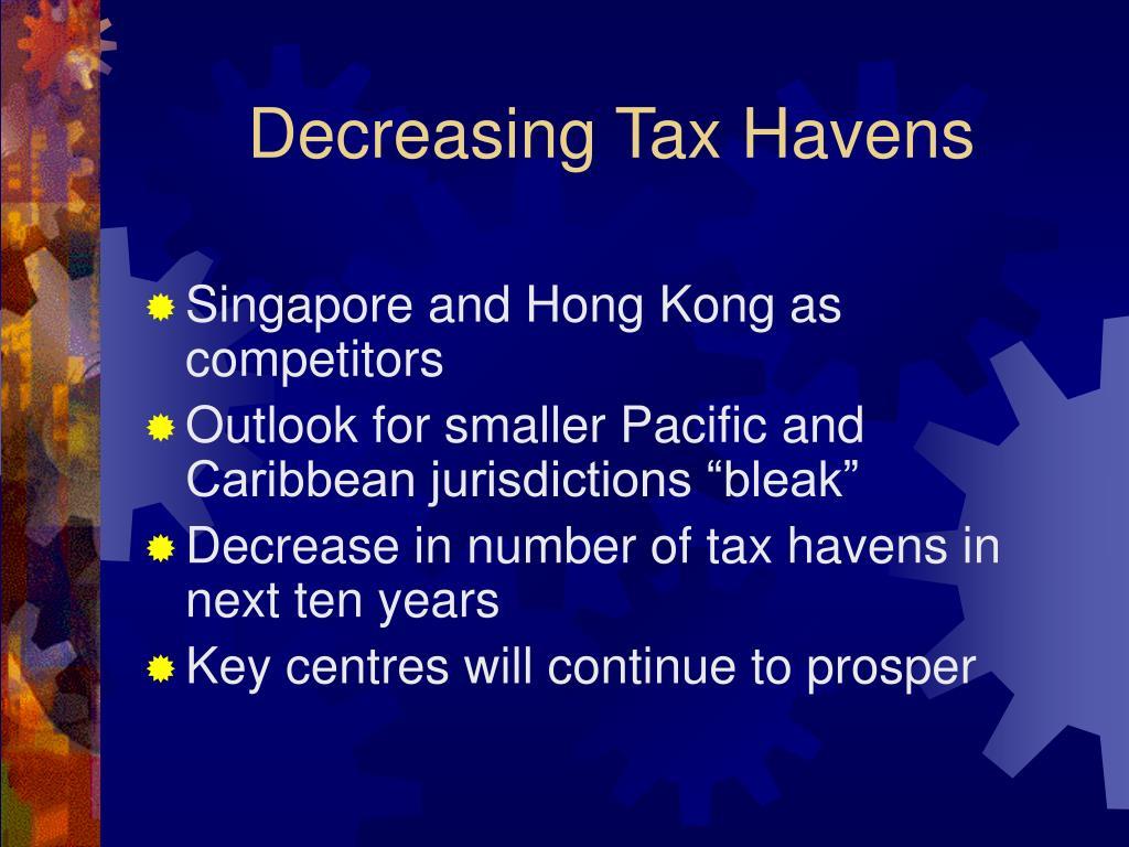 Decreasing Tax Havens