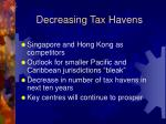 decreasing tax havens