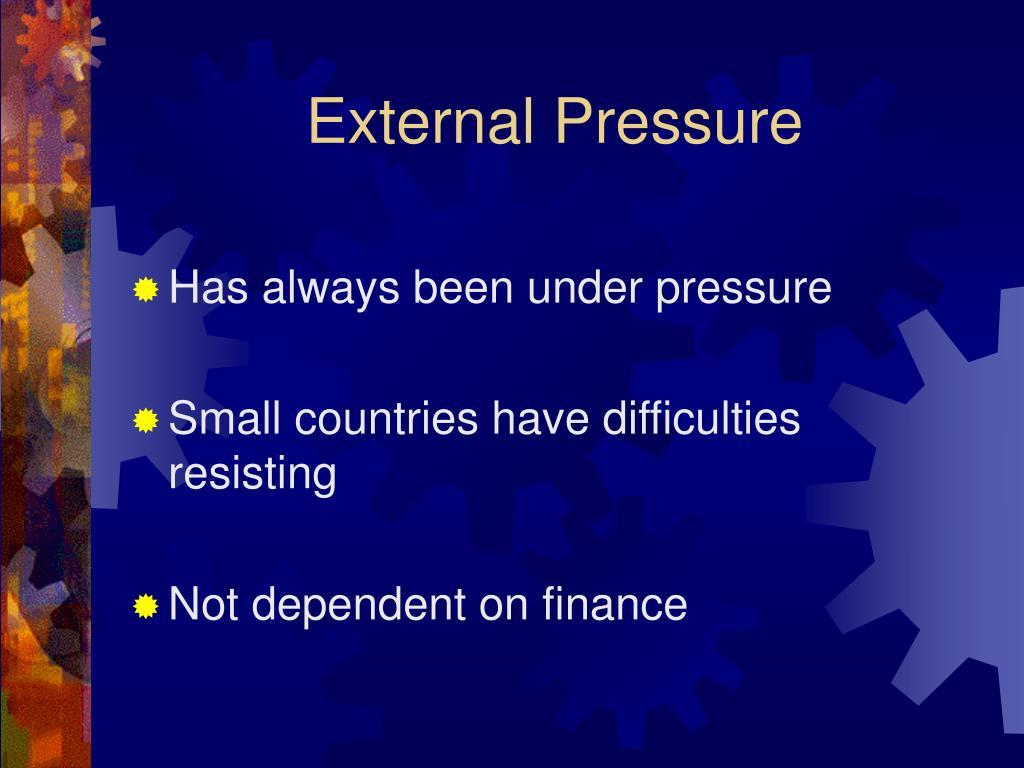 External Pressure