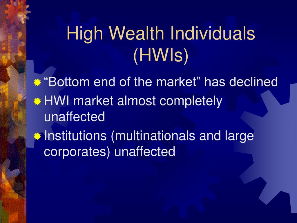 High Wealth Individuals (HWIs)