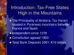 introduction tax free states high in the mountains