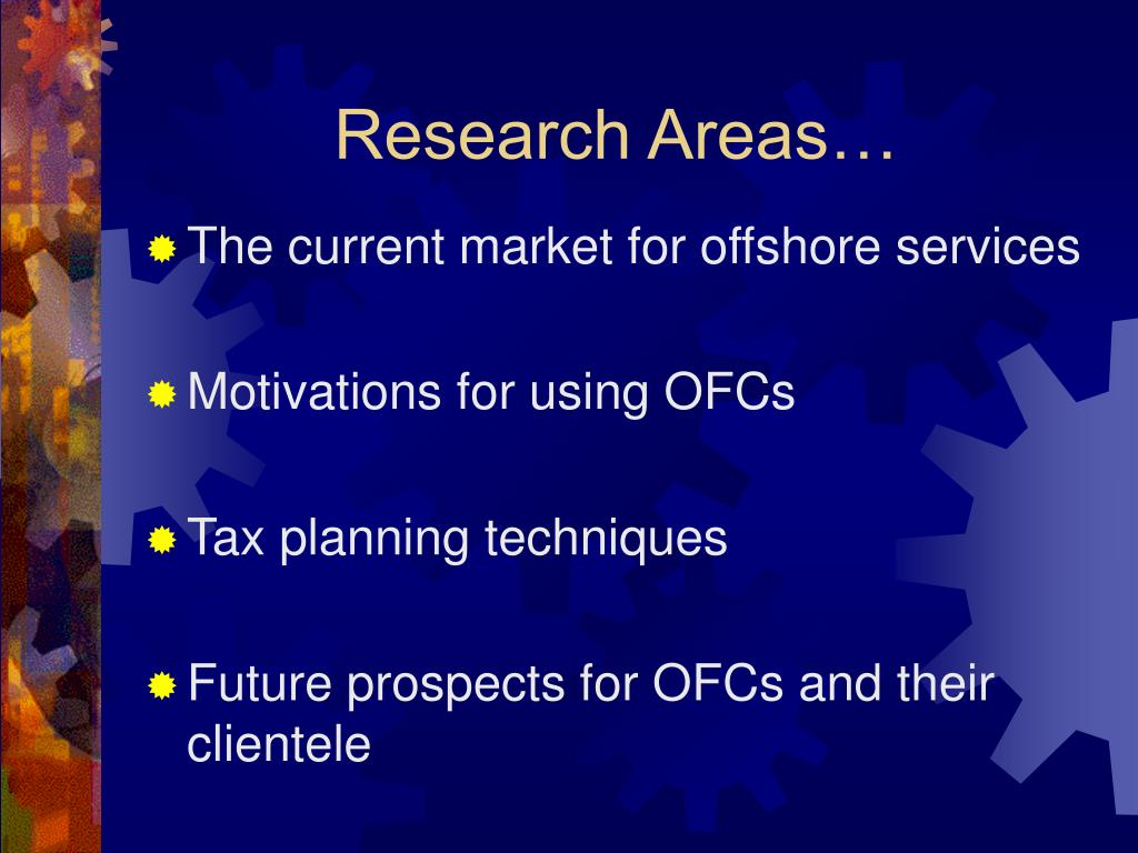 Research Areas…