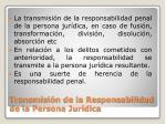 transmisi n de la responsabilidad de la persona jur dica