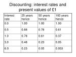 discounting interest rates and present values of 1