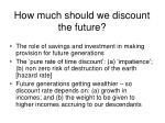 how much should we discount the future
