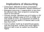 implications of discounting