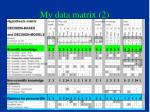 my data matrix 2