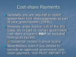 cost share payments