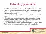 extending your skills