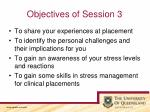 objectives of session 3