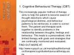1 cognitive behavioural therapy cbt