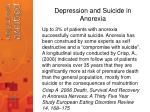 depression and suicide in anorexia