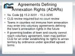agreements defining annexation rights adars