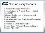 clg advisory reports