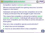 competition and evolution