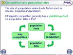 competition and population size