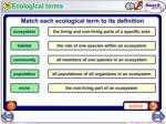 ecological terms