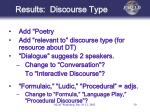 results discourse type