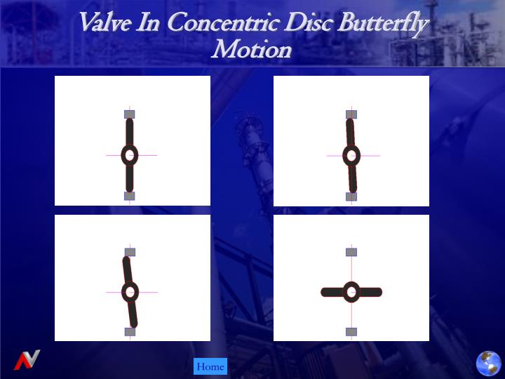 Valve In Concentric Disc Butterfly Motion