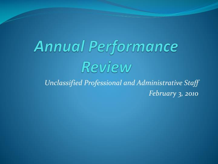 annual performance review n.