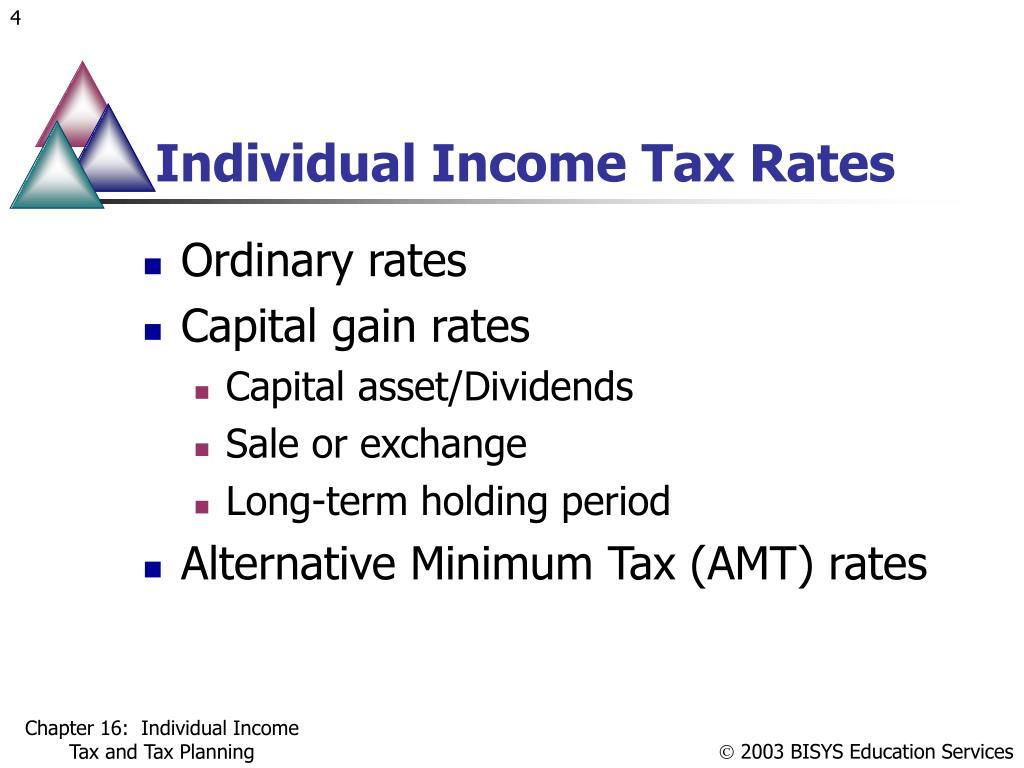 Individual Income Tax Rates