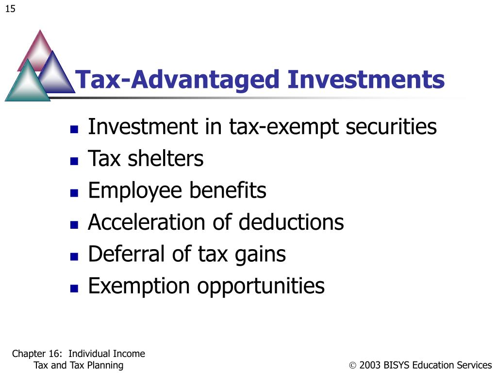 Tax-Advantaged Investments
