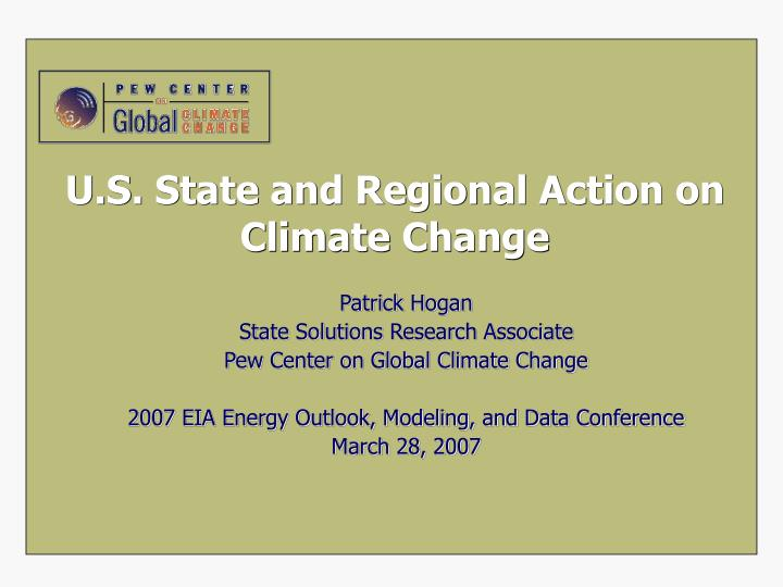 u s state and regional action on climate change n.