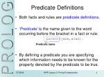 predicate definitions
