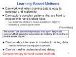 learning based methods